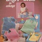 Crochet Patterns Baby Bibs Leisure Arts 416 Kitten Feeding Dribble 1986