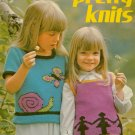 Columbia Minerva Pretty Knits Girl Knitting Patterns Tops 6 Designs 1972