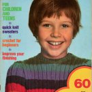 Mon Tricot MD 17 Children Knit Crochet Patterns Teens Sweaters Hats 1974