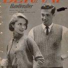 Bernat Knitting Patterns Fashions Glenspun English Tweed Sweater Vest 1955