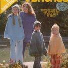 Leisure Arts 30 Poncho Hat Mittens Set Knitting Patterns Adult Child 1973