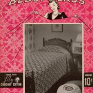 Crocheted Bedspreads 15 Patterns Lily Mills Motifs Blocks Filet Lace 1940