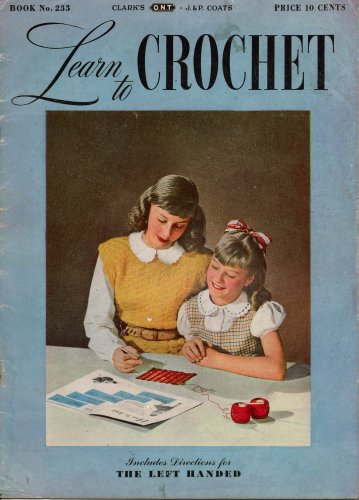 Crochet Beginners Patterns Beanie Hat Bag Doily Filet Learn Vintage Book 1946