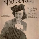 Crochet Patterns Peter Pan Hats Bags Sets Snood Beret Sailor 1940