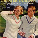 Sweater Fashions Knitting Crochet Patterns Women Men Children Cardigan 1962