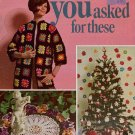 You Asked For These Crochet Patterns Granny Coat Doilies Ornaments Edgings 1960