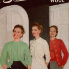 Sweaters Nylon Wool Knitting Patterns Star 86 Cardigan Bolero Blouse 1952