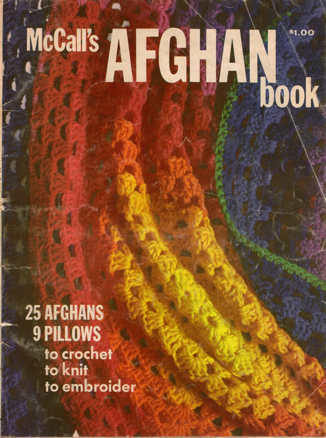 Mccalls Afghan Book Knitting Crochet Patterns Victorian