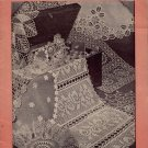 Doilies to Treasure Crochet Patterns Ruffle Filet Bird Placemat Lily 1942