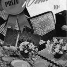 Prize Winners Crochet Patterns Curtains Doily Chair Motif Edgings 1949 VTNS