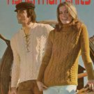 Columbia Minerva Fisherman Knits Knitting Patterns Women Men 4 Designs 1971 VTNS