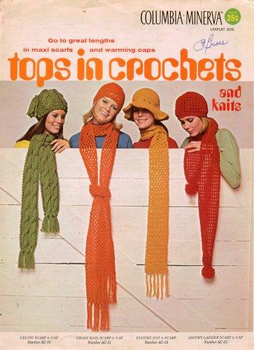 Columbia Minerva Crochet Knitting Patterns Hat Cap Maxi Scarf Sets 1970