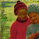 Vintage VOGUE KNITTING Children Special 1965 Beach Sweaters 57 Patterns