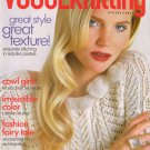 VOGUE KNITTING Holiday 2009 Cowls Hats Gifts Colorwork Twinkle Anna Sui