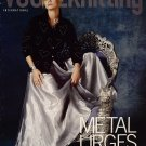 VOGUE KNITTING Holiday 2004 Metal Glam Sweaters Corset Floral Scarf Poncho