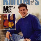 Knitters 33 Winter 1993 Men Boys Dinosaurs Zodiac Guernsey Afghan Fair Isle