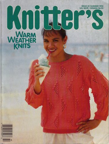 Knitters 35 Summer 1994 Warm Weather Sweaters Seashells Zodiac Veggies