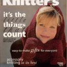 Knitters 49 Winter 1997 Holiday Gifts Hat Mittens Socks Slippers Coat