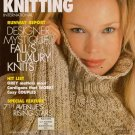 VOGUE KNITTING Fall 1998 Cable Rib Sweaters Motifs Poncho Oscar de la Renta