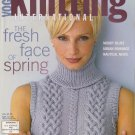 VOGUE KNITTING Spring Summer 2002 Lace Dress Stripes Argyle Black White
