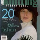 VOGUE KNITTING Fall 2002 20th Anniversary Issue Sweaters Coats Patterns