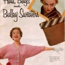 Hats Bags Bulky Sweaters Crochet Knitting Patterns Stocking Cap Cloche Vintage 1950