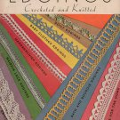 Crochet Knitting Patterns Edgings Doily Hairpin Lace Spool Cotton Vintage 1935
