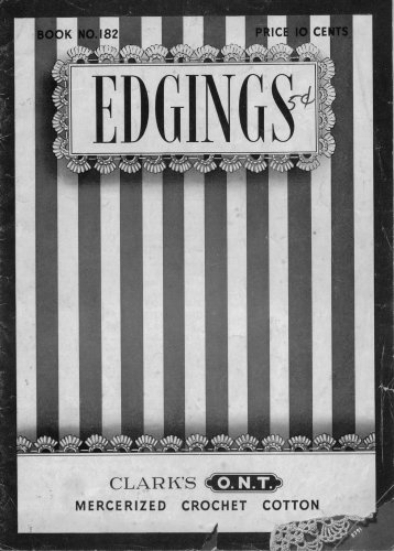 Crochet Knitting Patterns 100 Edgings Lingerie Baby Filet Linens Vintage 1942