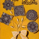 Star Book 57 New Tablecloths Crochet Patterns Motifs Filet Rose Flower 1948
