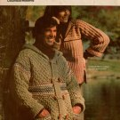 Columbia Minerva Bulky Sweaters Wrap Jacket Crochet Knitting Patterns 1976
