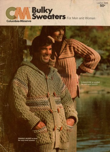 Columbia Minerva Bulky Sweaters Wrap Jacket Crochet Knitting Patterns 1976