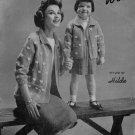 Knitting Patterns Easy Hilde Bulkee Fashions Jacket Sailor Family Vintage 1959