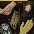 Vtg Knitting Crochet Patterns Gloves Mittens Family Norwegian Flip Top 1953