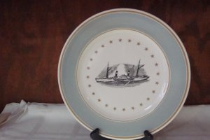 SYRACUSE CHINA STEAM BOAT PLATE