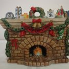 CHRISTMAS VILLAGE FIREPLACE
