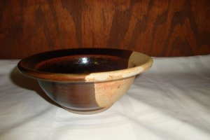 STONEWARE ART POTTERY BOWL
