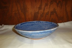 Contemporary Artist Signed Art Pottery Fruit Bowl Cherry Hill Pottery