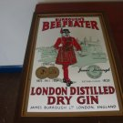 BEEFEATER LONDON DRY GIN MIRROR BAR SIGN RARE