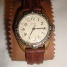 AUTHENTIC FOSSIL EC 6856 MENS WATCH W/DATE 3ATM BROWN BAND
