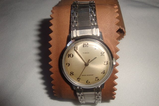TIMEX WATER & DUST RESISTANT MENS SILVER COLOR WATCH