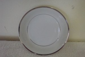 HARMONY HOUSE FINE CHINA SILVER MELODY BREAD & BUTTER PLATE