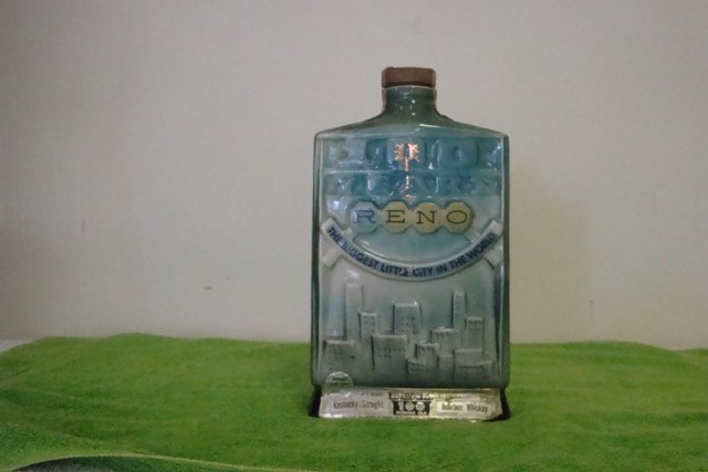 VINTAGE BEAM  RENO 100 YEARS LIQUOR BOTTLE 1968 Genuine Regal China