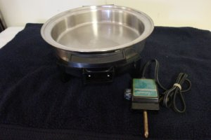 LIFETIME ELECTRIC CASSEROLE SKILLET 11""