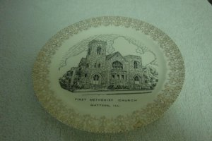 WORLD WIDE ART STUDIOS FIRST METHODIST CHURCH MATTON, ILL. COLLECTOR PLATE