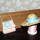 Barbie Doll Clothes Handmade Handbag and Hat