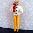 Barbie Doll Clothes Fur Coat, Pants and Scarf