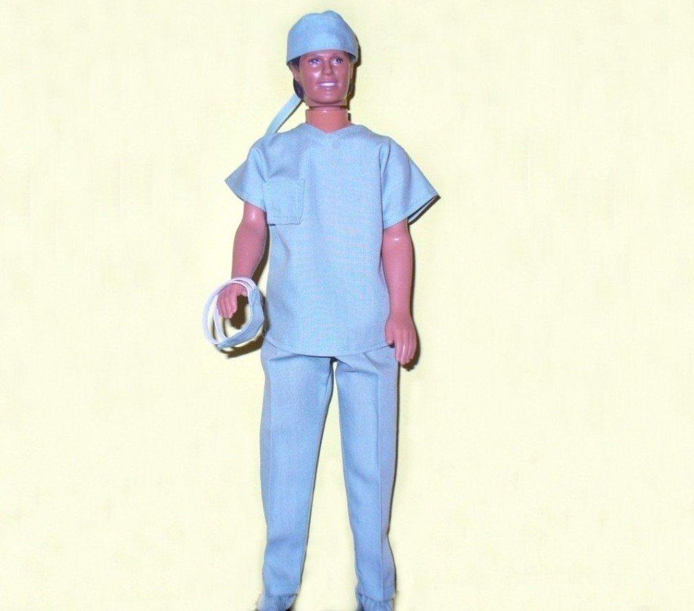 Ken Doll Clothes Handmade Hospital Scrubs