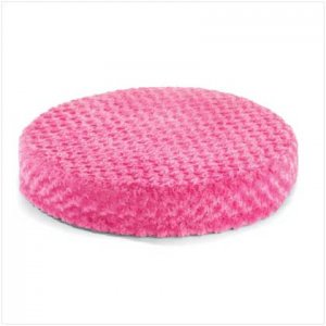 37530 Pink Plush Round Pet Bed