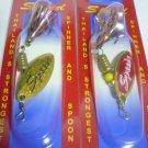 2PCS/ Blade Brass Spinner Fishing Lures