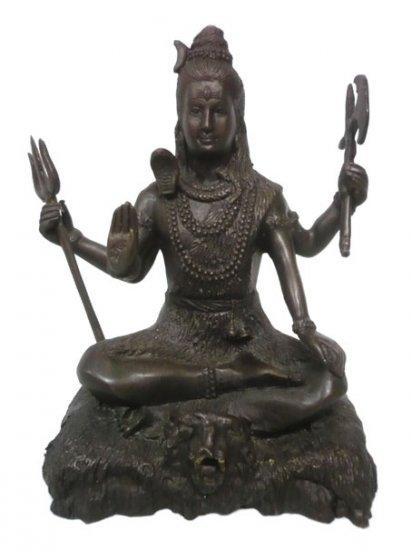 Black Shiva Hindu God Brass Statue :size 8.5x5.5